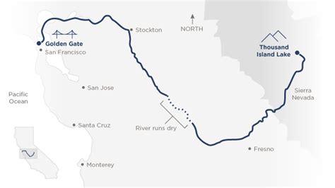 california map san joaquin river my 417 mile trip the endangered river
