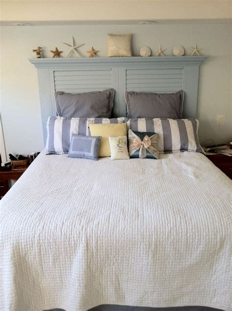 Louvered Headboard by New Headboard We Made From A Reused Louvered Door