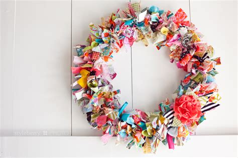 Homemade Christmas Decorations For The Home by Diy Rag Wreath To Conquer The Boredom 187 Styleberry Blog