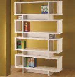 Chicago furniture store white modern bookcase