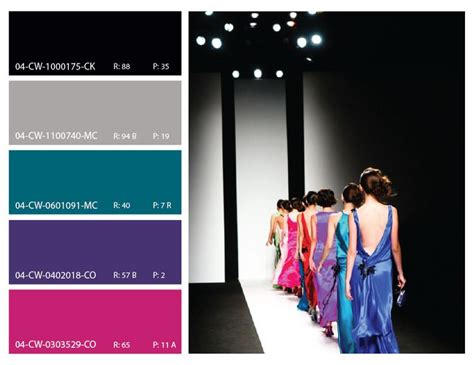 high fashion color trends high fashion pink purple teal