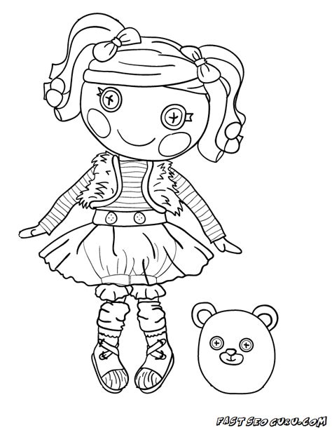 printable mittens fluff n stuff doll lalaloopsy coloring pages