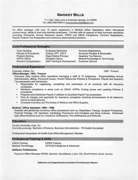 Healthcare Administration Resume Examples Typical Manager