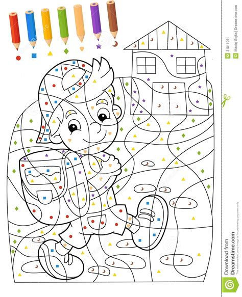 Die Seite Mit 220 Bungen F 252 R Kinder Malbuch Illustration Colouring And Painting Games L