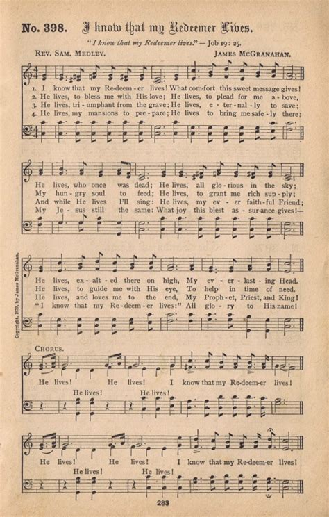 book pages free antique hymn book page i that my redeemer lives