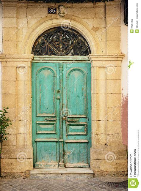 wooden door  ancient greek house crete royalty