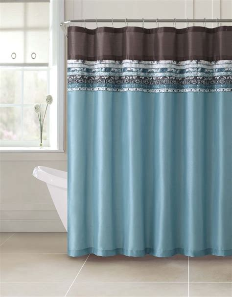 turquoise and beige curtains poetica faux silk aqua blue teal brown turquoise fabric
