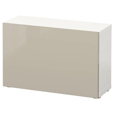 Besta 60x20x38 by Best 197 Shelf Unit With Door White Selsviken High Gloss