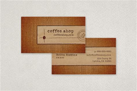 coffee business card template coffee shop business card template inkd