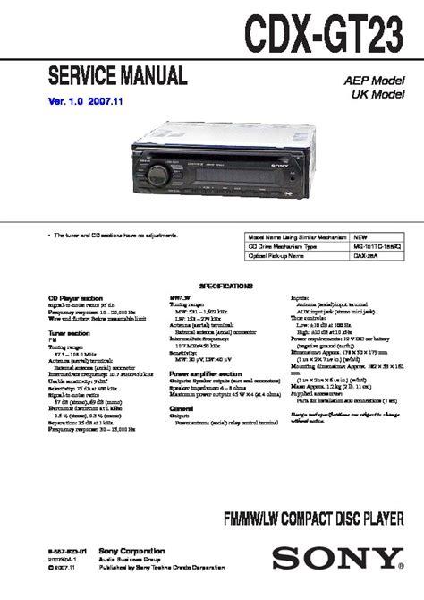 sony cdx gt230 wiring diagram sony cdx gt700hd wiring