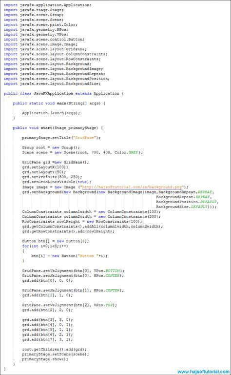javafx layout constraints javafx gridpane columnconstraints and rowconstraints