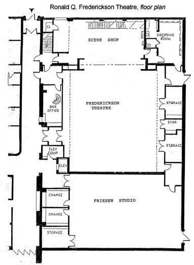 theater floor plan ronald q frederickson theatre floor plan dressing rooms