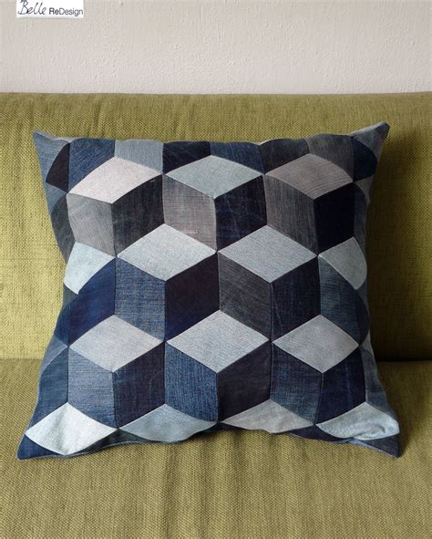 cubic pillow my patchwork pillow with a cubic pattern this