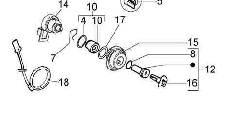 Key Switch Vespa Modern modern vespa ignition lock spins