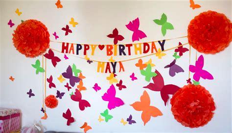 home made birthday decorations celebrating maya s 1st year starring maya