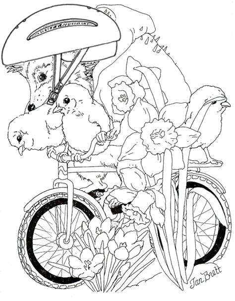 Jan Brett The Mitten Coloring Pages Coloring Home Coloring Pages Jan Brett