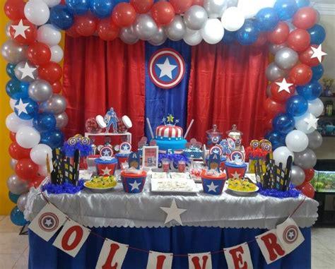capitan america decoracion ambientacion cotilln fiestas decoracion con globos para fiestas infantiles de capitan
