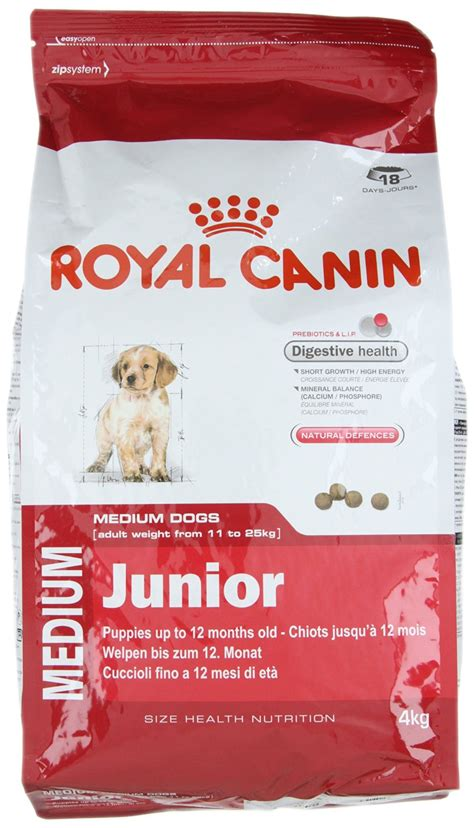 royal canin royal canin medium junior food 4 kg nappets
