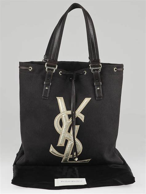 Yves Laurent Raspail Canvas Tote by Yves Laurent Brown Canvas Signature Tote Bag