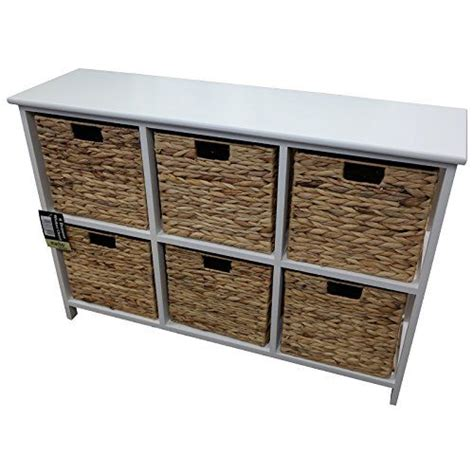Wicker Storage Drawers Uk by 6 Drawer Wicker Merchant Chest With White Wooden Frame
