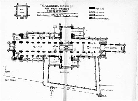 10 Chichester Place Floor Plans - bell s cathedrals chichester 1901 hubert c corlette