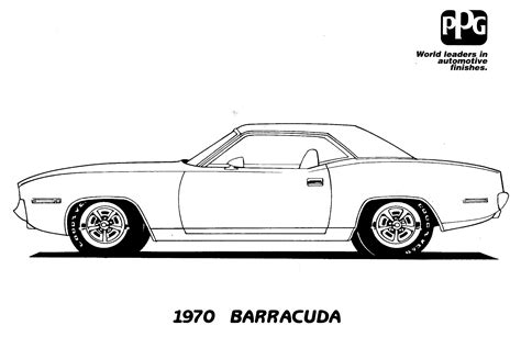 car coloring page outline muscle car coloring pages to download and print for free