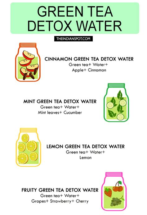 Things To Bring To Detox by Green Tea Detox Water Recipes For Cleansing And Weight