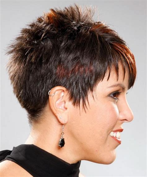 stylish spiked on top only cut for women very short spikey hairstyles for women