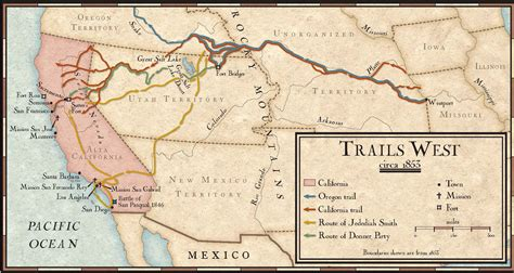 map of oregon trail 1850 trails west in the mid 1800s national geographic education