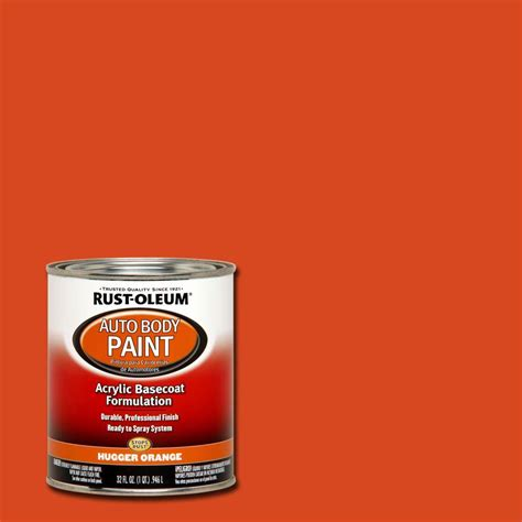 rust oleum automotive 1 qt auto hugger orange paint