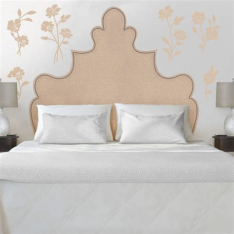 Martha Stewart Headboards by Shaped Headboard With Flowers Wall Decal Shop Fathead 174 For Wall D 233 Cor