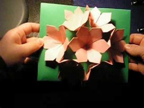 Origami Pop Up Flower - pop up flower card rhd
