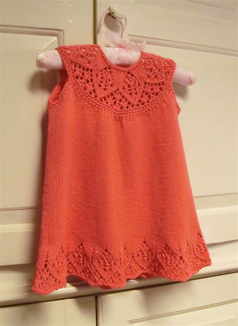knitted dress patterns for toddlers baby dress knitting pattern with lace yoke meredith baby