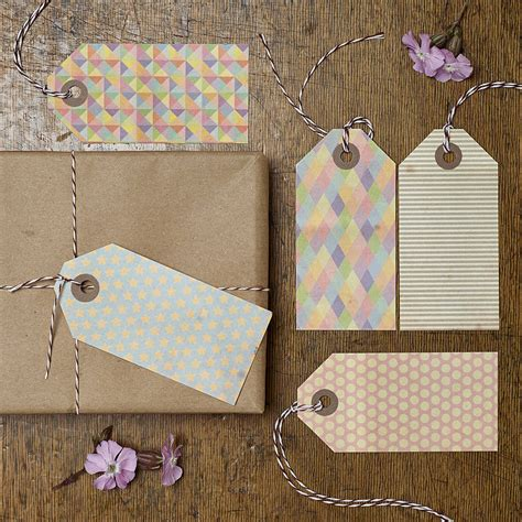 pattern gift tag vintage pattern gift tags by katie leamon