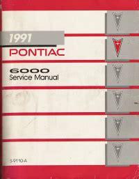 1991 pontiac 6000 service manual