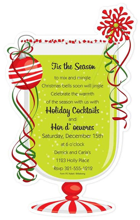 christmas cocktail party invitations christmas open house invitation food gifts pinterest