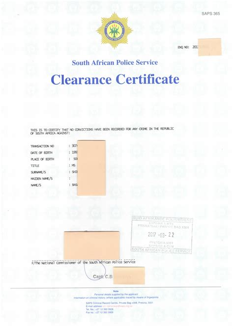 Criminal Record Clearance Certificate Stock Of Clearance Certificate Business Cards And Resume