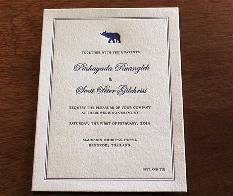 Wedding Invitation Card Bangkok by Bangkok Thai Wedding Invitation Design Letterpress