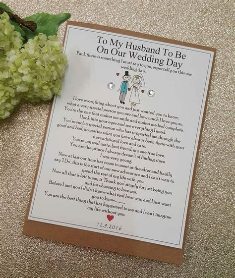 Wedding Card Groom To by Best To My Groom On Our Wedding Day Groom Husband To Be