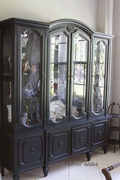 black china hutch cabinet china cabinet makeover pinterest addict