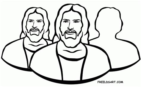 lds coloring pages godhead lds holy ghost clipart clipartxtras