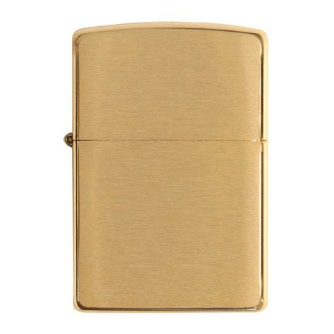 Zippo Brushed Brass With Solid authentic zippo lighter armor brushed brass zippo