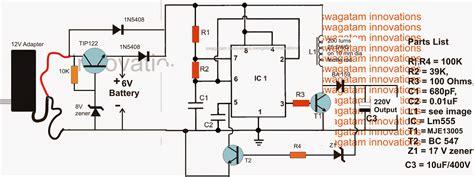 6v to 220v inverter circuit diagram how to make a 6v to 220v boost ups circuit for satellite