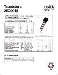 datasheet transistor fm 2sc9018 datasheet transistor am fm if lifier local oscillator of fm vnf tuner collector