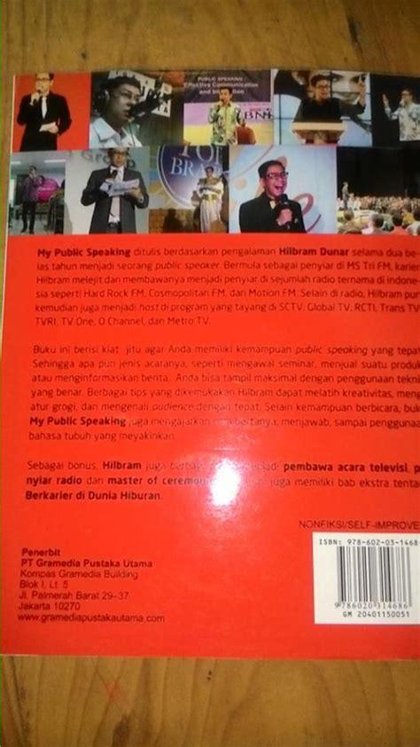 Buku My Speaking Hilbram Dunar Gramedia Rz my speaking buku referensi yang bisa di baca oleh para guru motivator pendidikan kreatif