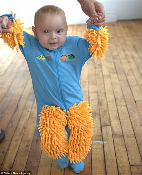 Baby Clean Floor by Now Your Baby Can Help With The Housework As Hilarious