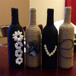decorated wine bottles crafts graduation