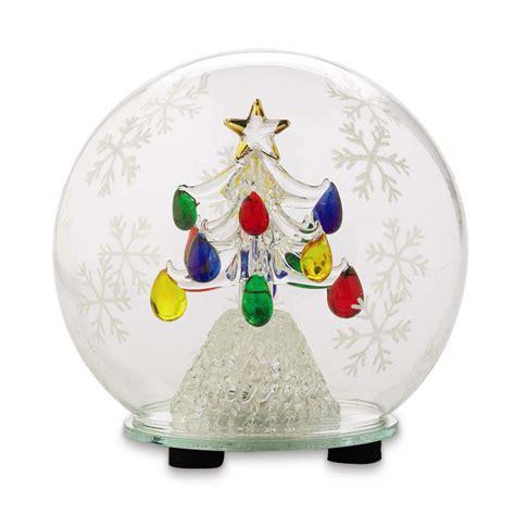 holiday handblown glass globe christmas tree