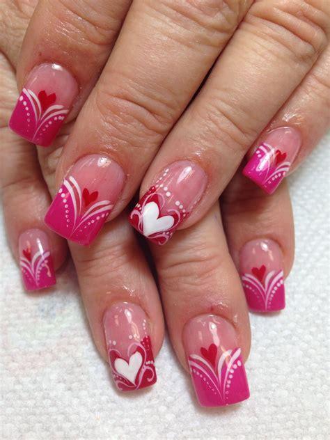 .prettyfulz valentines day nail design xoxo