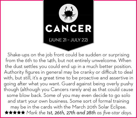 get your march 2015 horoscope